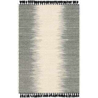 Chantilly 4' x 6' Rug - Ivory and Black