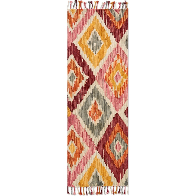 Rugs - Brushstroke 3' x 8' Rug - Silver Sunset
