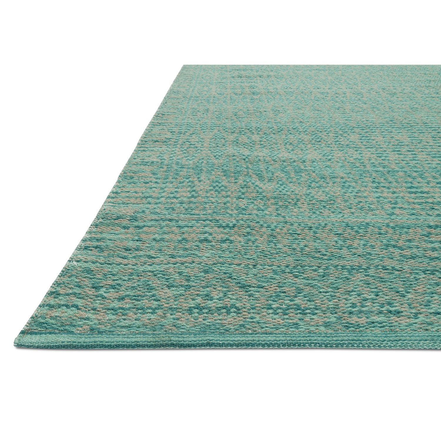 Emmie Kay 4 x 6 Rug Turquoise and Dove