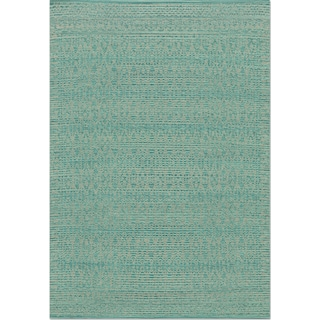 Emmie Kay 4' x 6' Rug - Turquoise and Dove