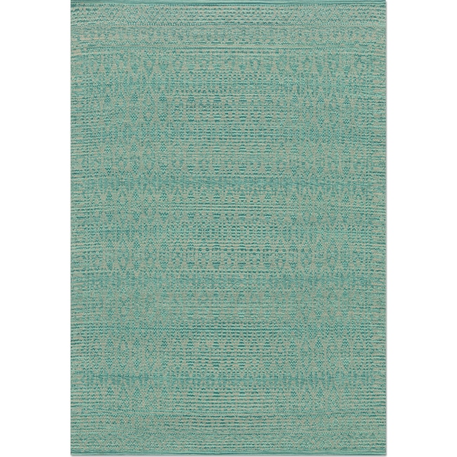 Accent and Occasional Furniture - Emmie Kay 4' x 6' Rug - Turquoise and Dove