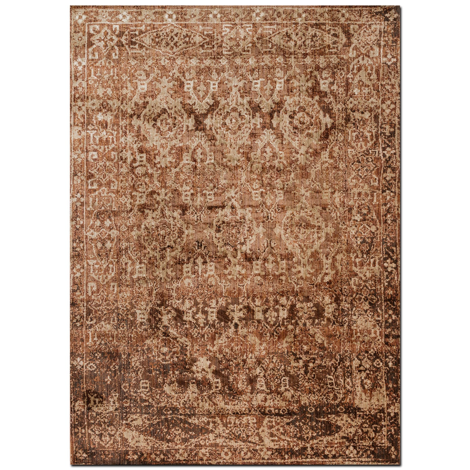 Kivi 4' x 6' Rug - Sand and Copper