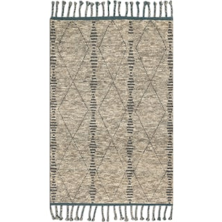 Tulum 6' x 9' Rug - Stone and Blue