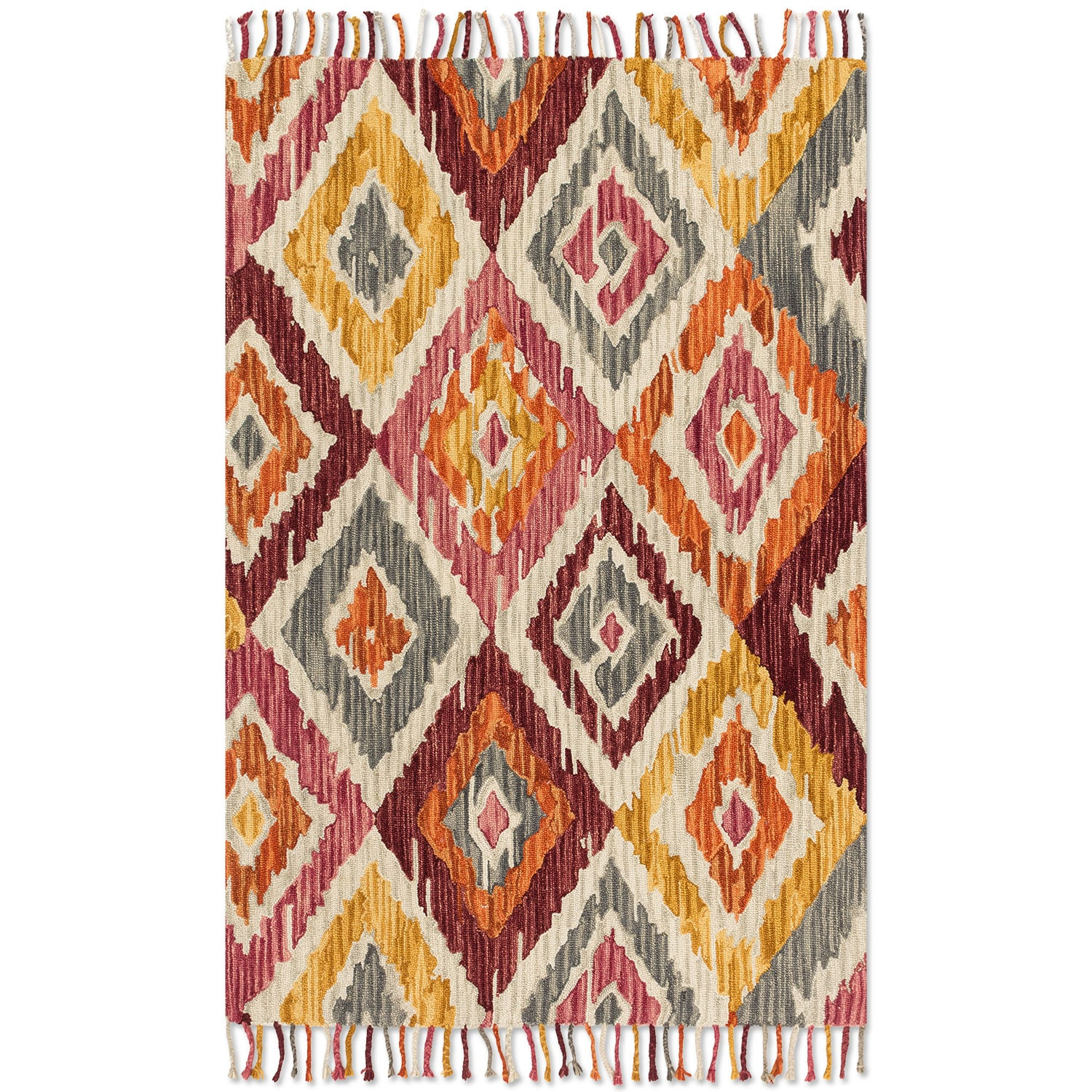 Rugs - Brushstroke 8' x 10' Rug - Silver Sunset