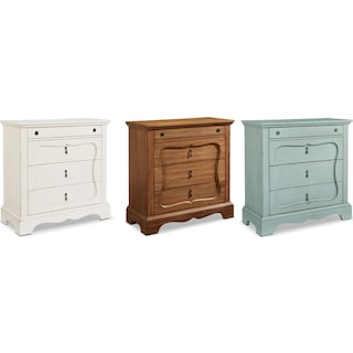The French Inspired Silhouette 4-Drawer Chest Collection