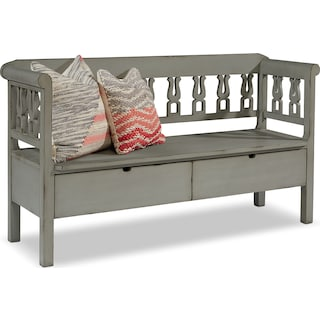 Hall Bench with Storage - Dove Grey