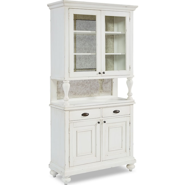 Accent and Occasional Furniture - Farmhouse Dish Cabinet and Hutch