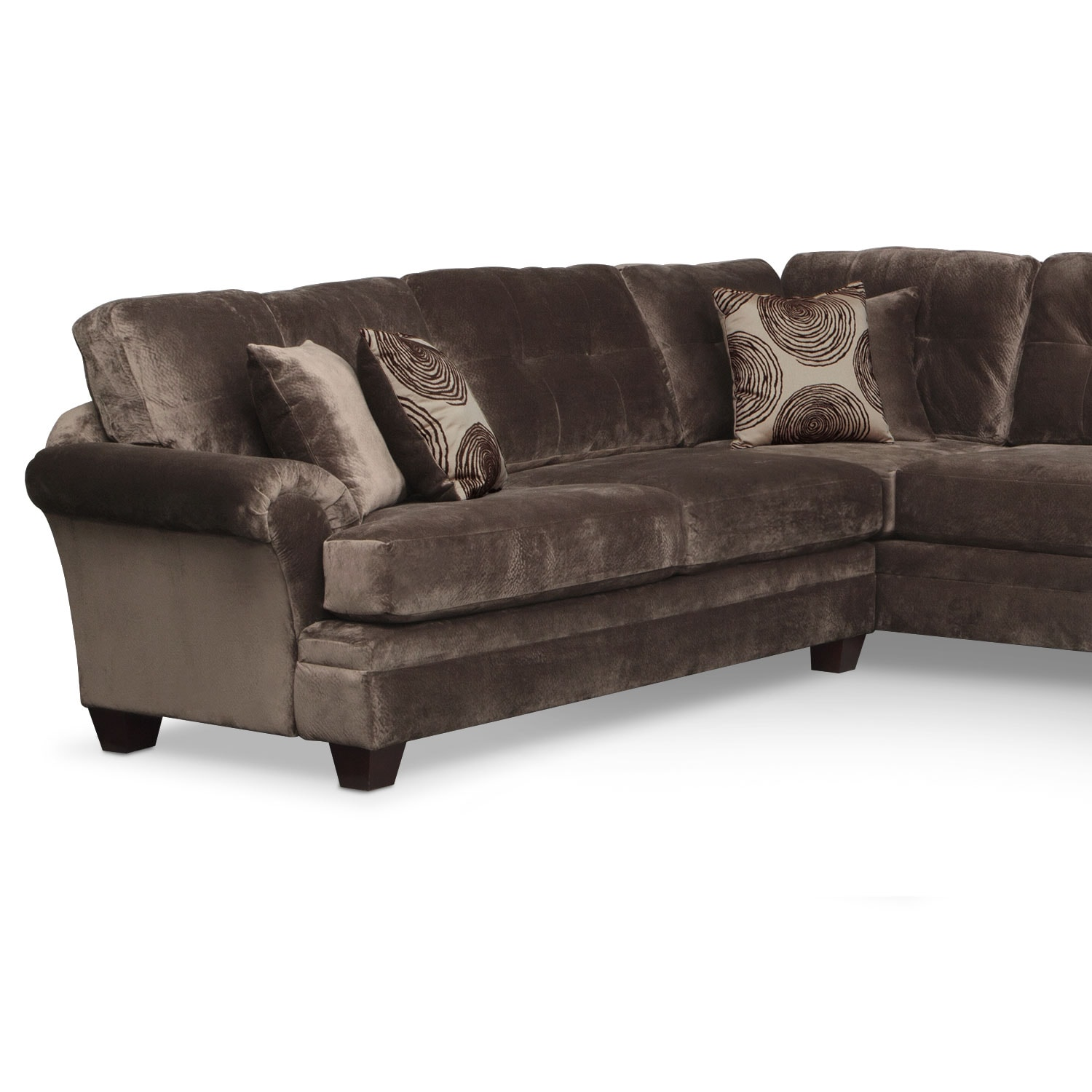 Living room furniture cordoba 2 pc sectional - Click To Change Image