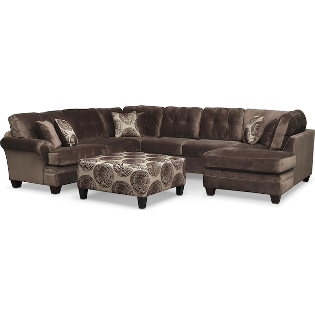 Prime Cordelle 3 Piece Sectional With Chaise And Ottoman Spiritservingveterans Wood Chair Design Ideas Spiritservingveteransorg