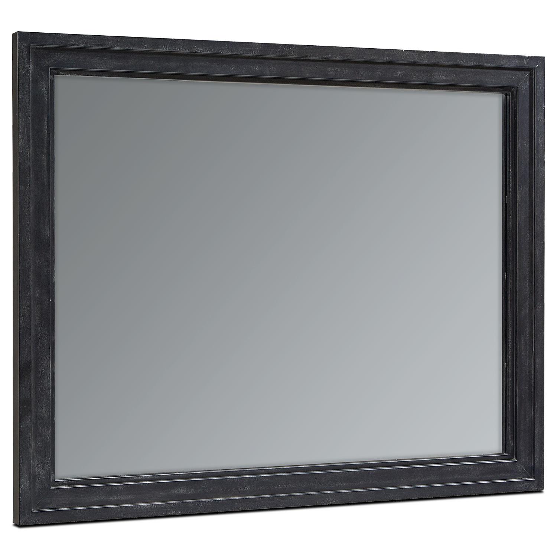 Foundry Wall Mirror - Blackened Bronze