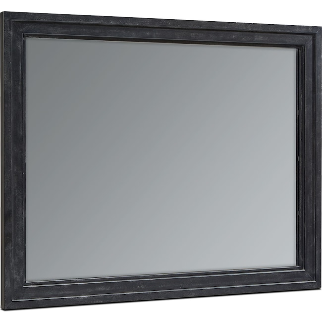 Home Accessories - Foundry Wall Mirror - Blackened Bronze