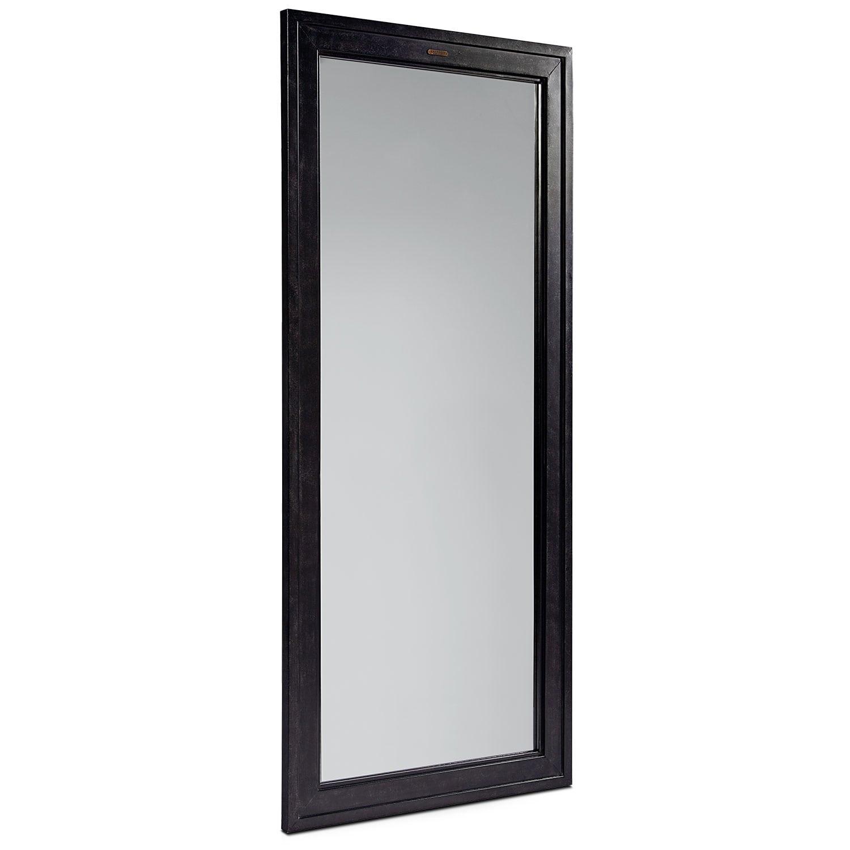 Home Accessories - Short Foundry Mirror - Blackened Bronze
