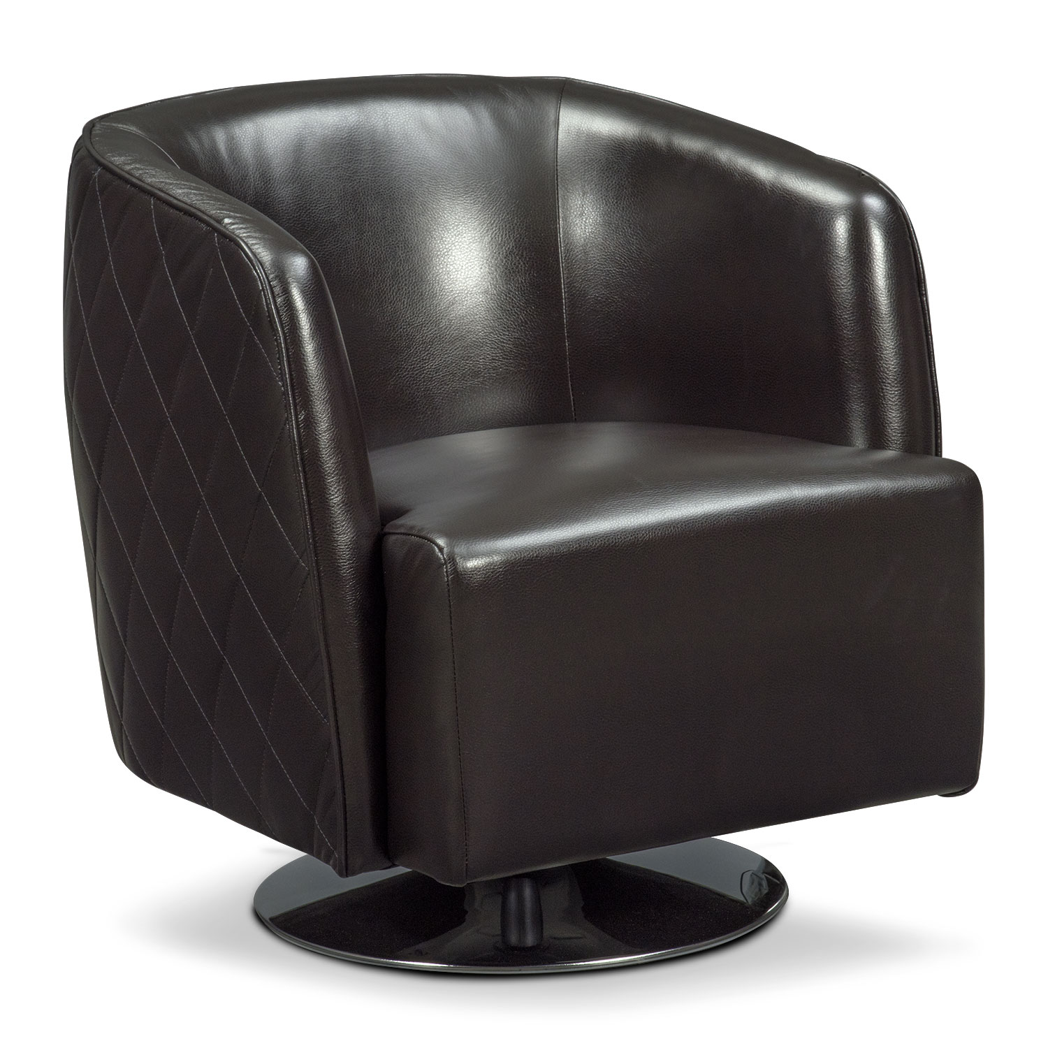 Santana Swivel Chair - Black