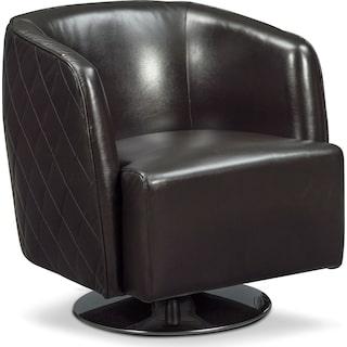 Santana Swivel Chair - Black