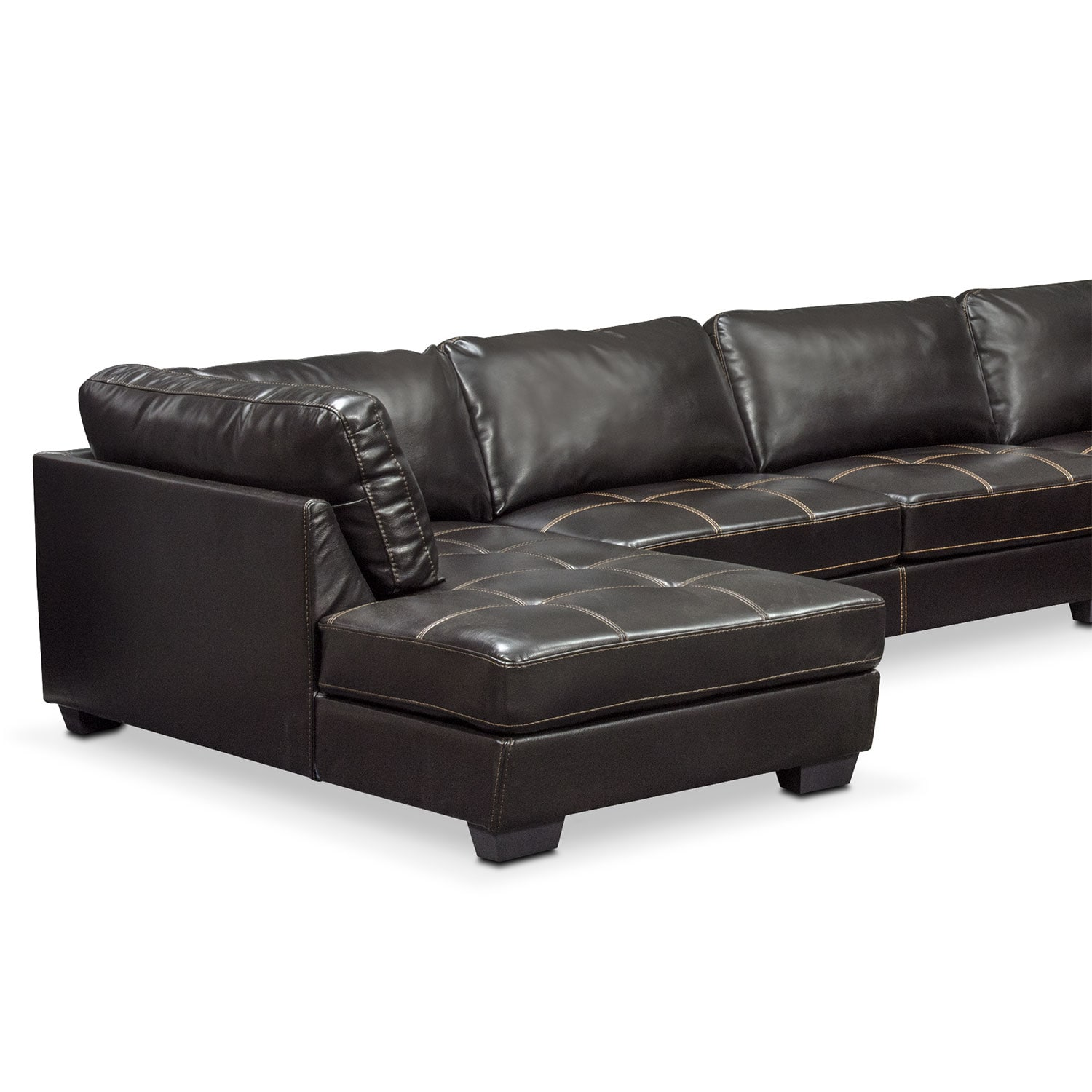 Click to change image.  sc 1 st  Value City Furniture : 4 piece sectional with chaise - Sectionals, Sofas & Couches