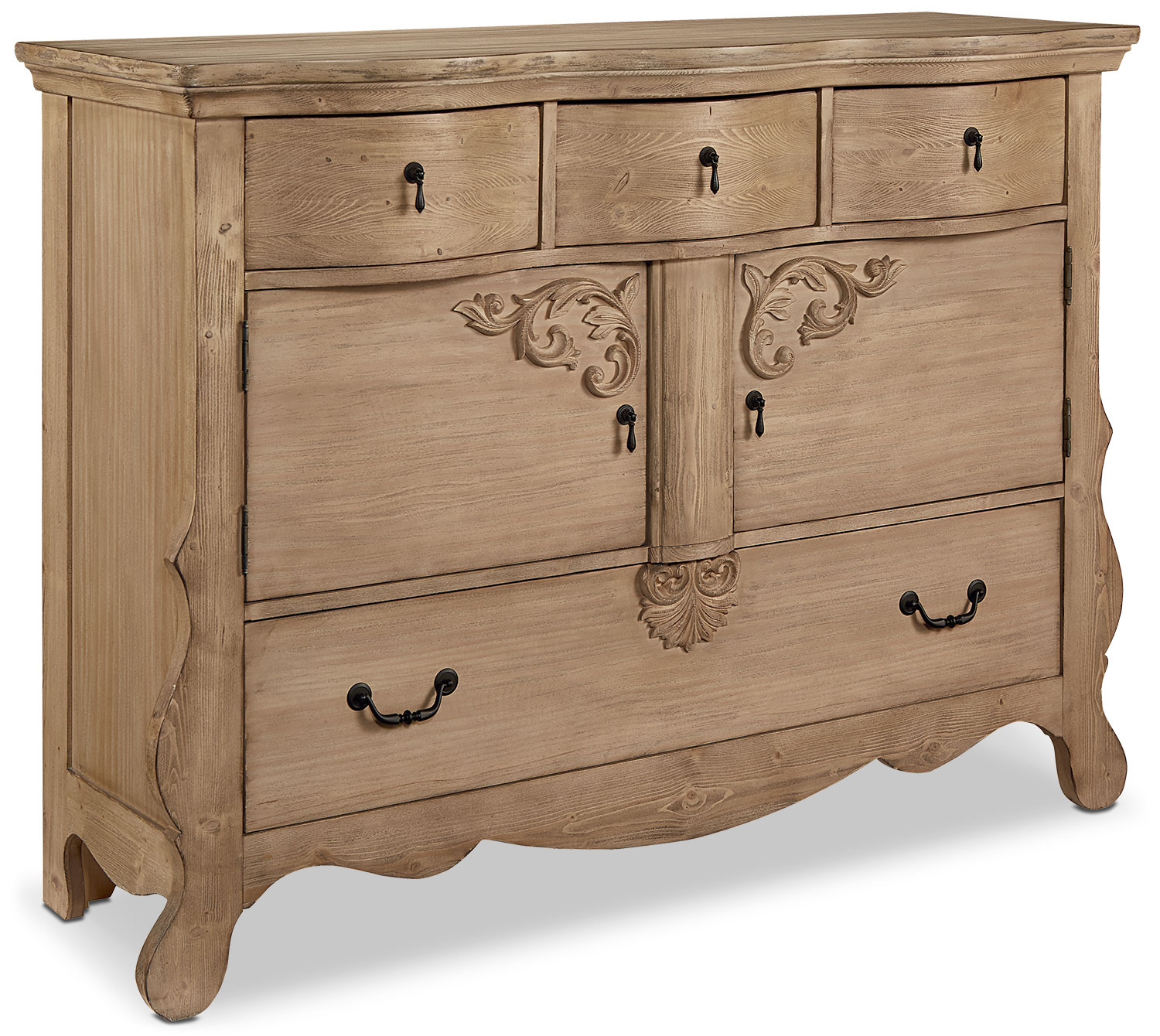 Golden Era Sideboard Chest - Wheat