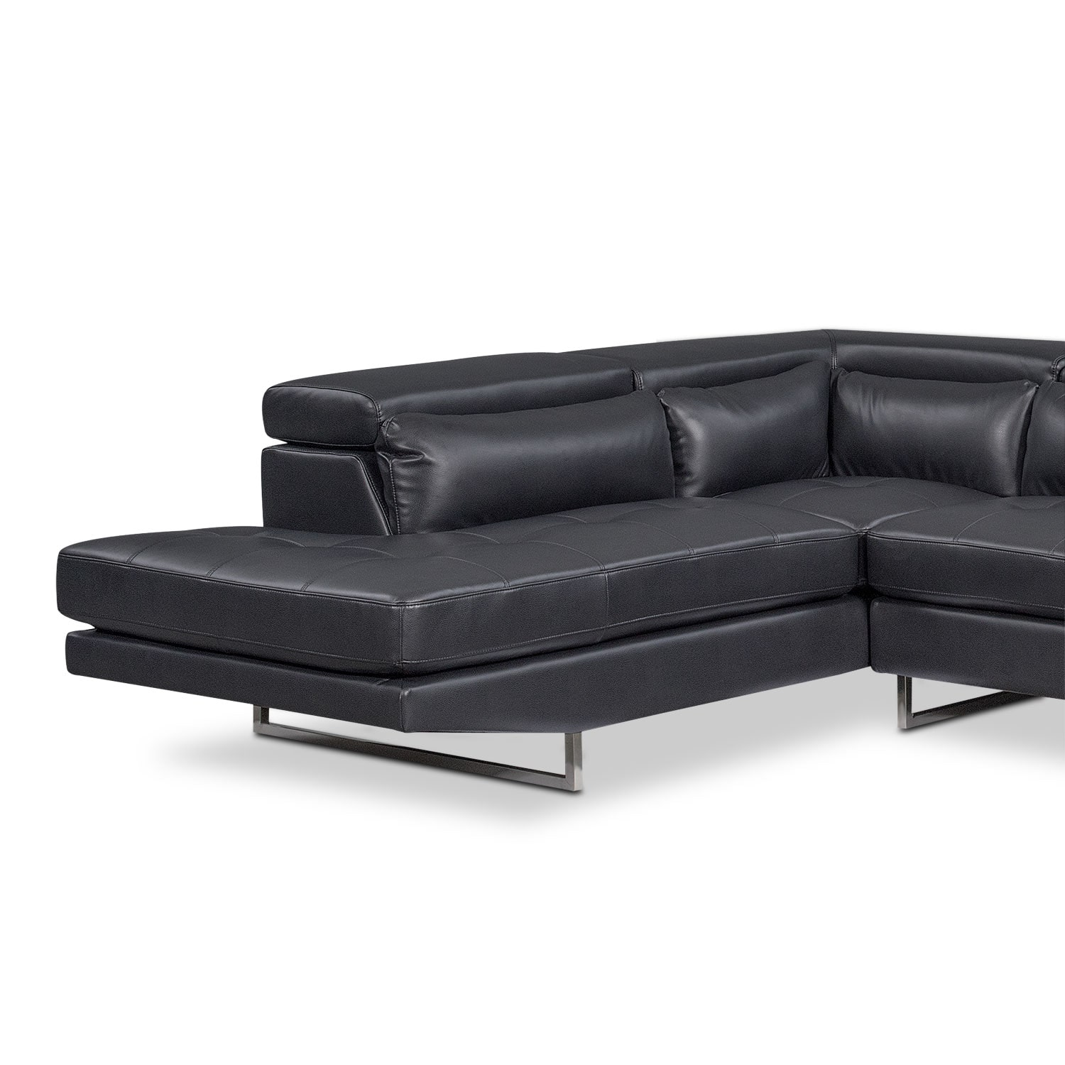 Torino 2 piece sectional with left facing chaise for Furniture 0ne