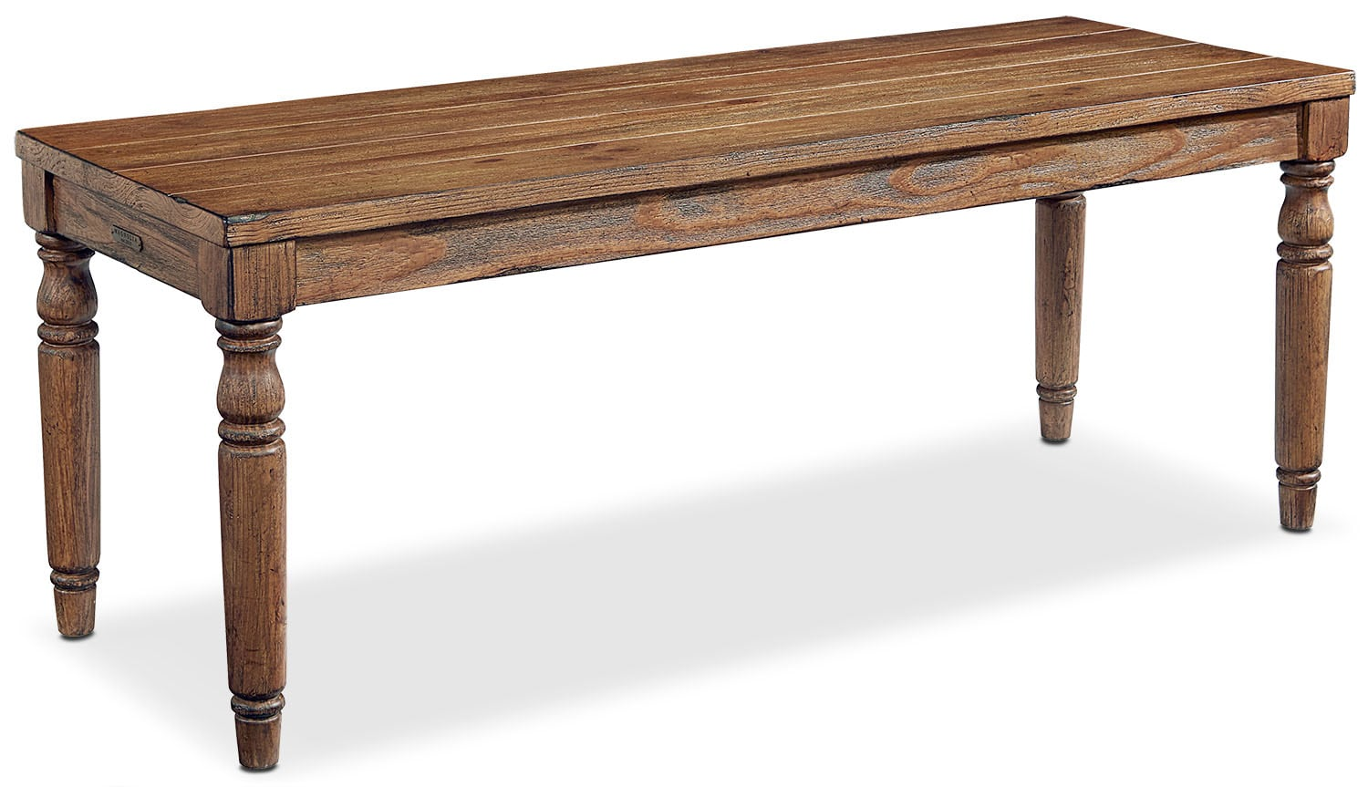 Dining Room Furniture - Primitive Taper Turned Bench - Bench