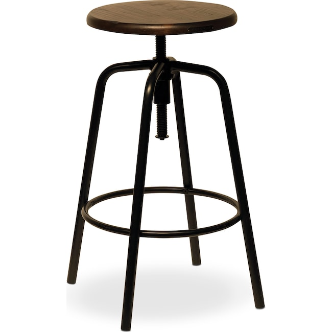 Accent and Occasional Furniture - Factory Stool - Blackened Bronze