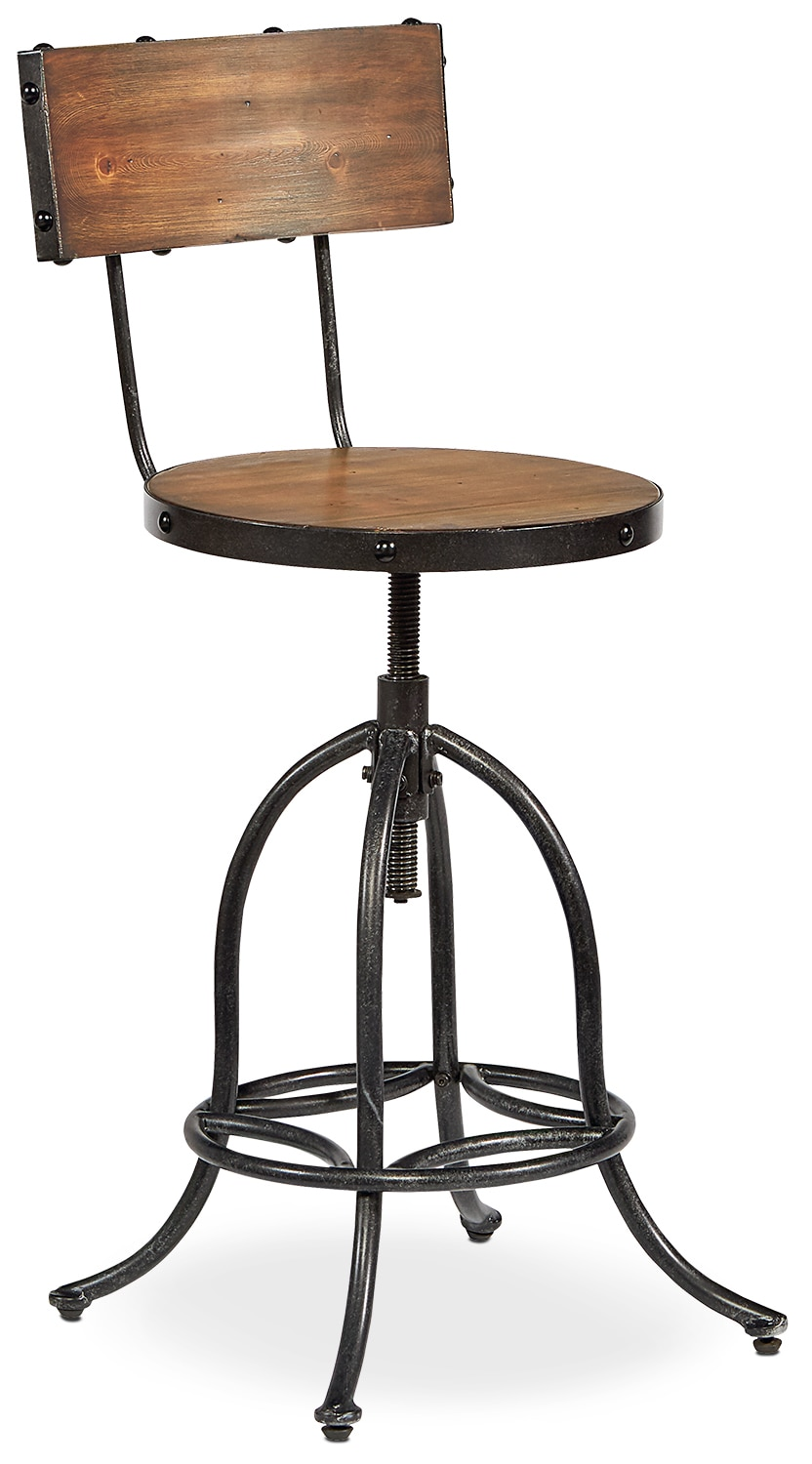 Accent and Occasional Furniture - Architect Stool - Blackened Bronze