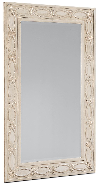 Home Accessories - Short Artisan Mirror - Antique White