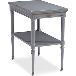 Petite Rosette Table withe Casters- Dove Grey