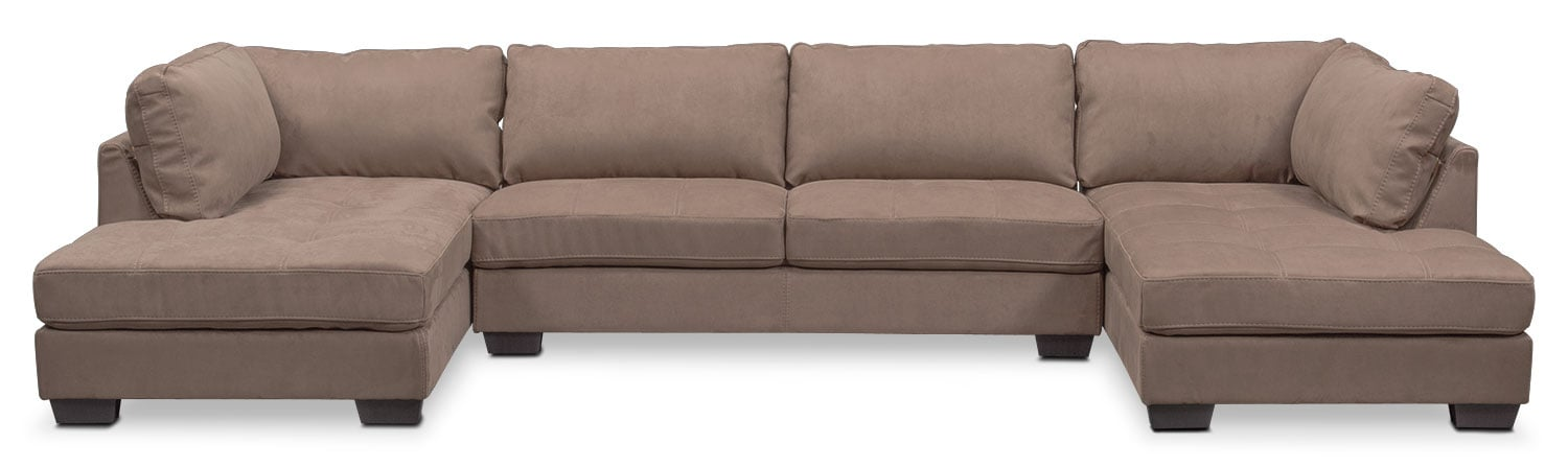 Santana 3-Piece Sectional - Taupe