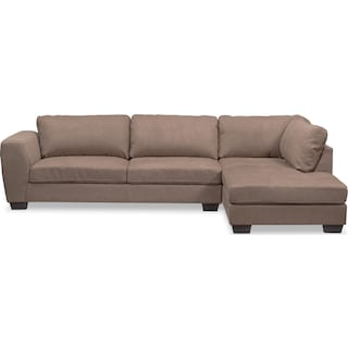 Santana 2-Piece Sectional with Right-Facing Chaise - Taupe
