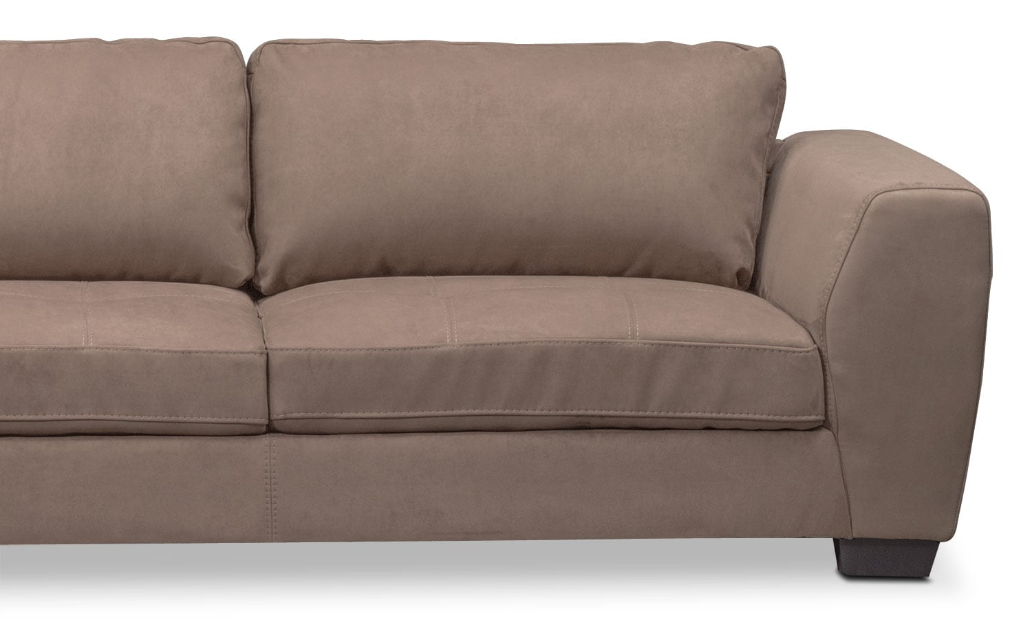 santana 2 piece sectional with left facing chaise taupe. Black Bedroom Furniture Sets. Home Design Ideas