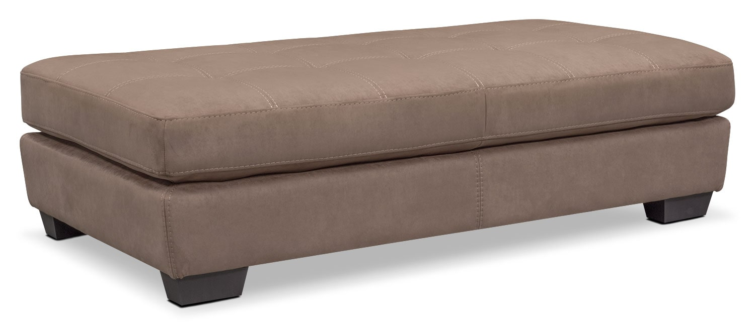 Living Room Furniture - Santana Cocktail Ottoman - Taupe