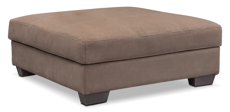 Living Room Furniture - Santana Storage Ottoman - Taupe