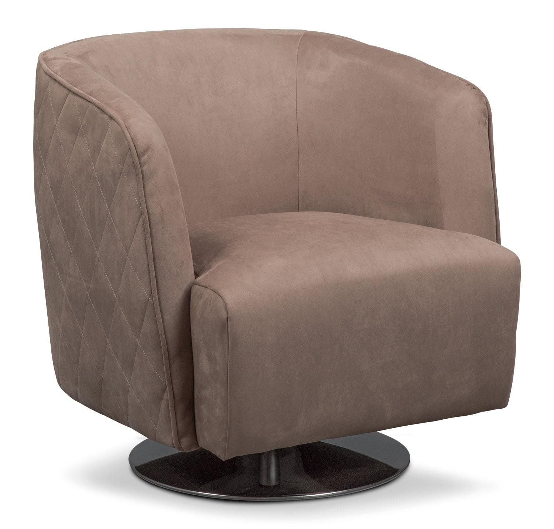 Santana Swivel Chair - Taupe