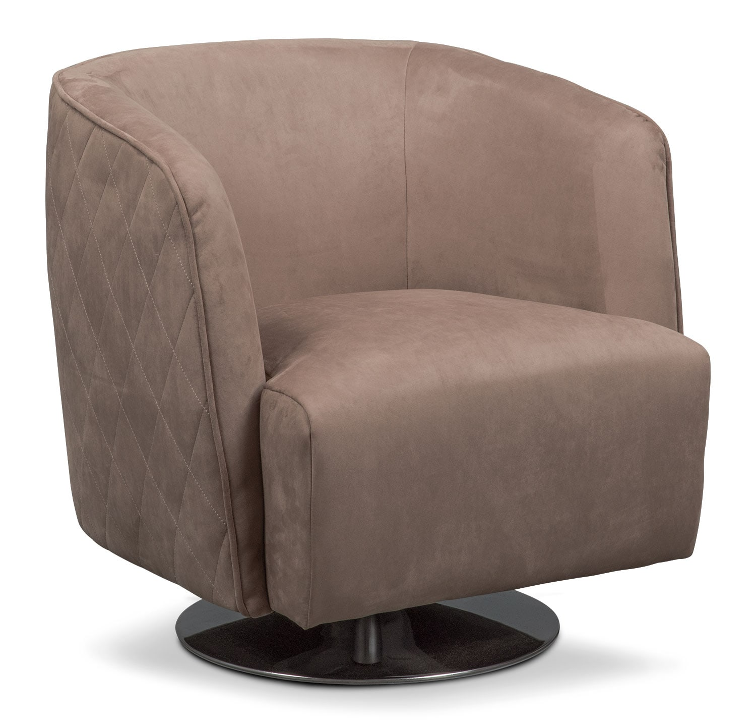 Living Room Furniture - Santana Swivel Chair - Taupe