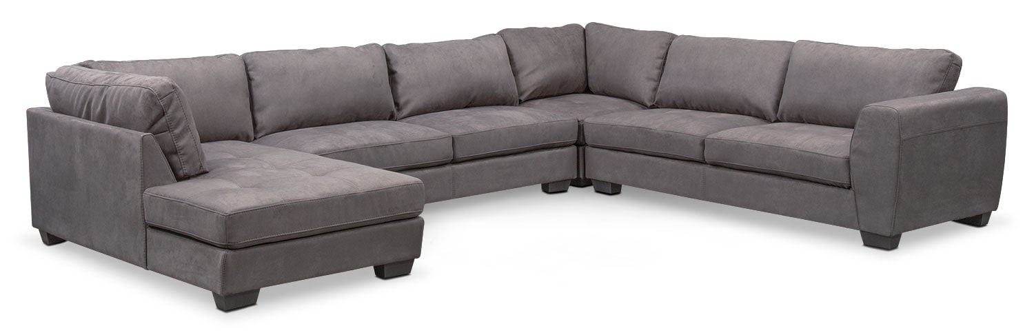 Santana 4 Piece Sectional With Chaise