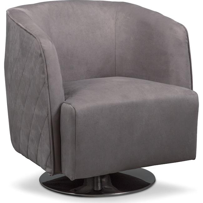 Living Room Furniture - Santana Swivel Chair- Slate