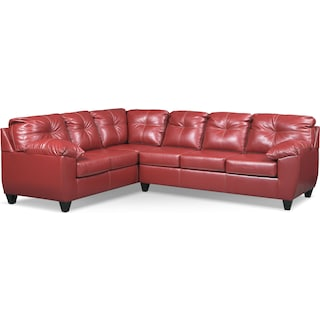 Ricardo 2-Piece Innerspring Sleeper Sectional with Left-Facing Sofa - Cardinal