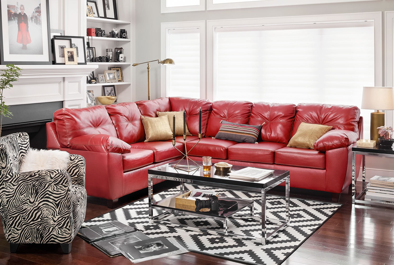 Rialto 2-Piece Sectional with Right-Facing Corner Sofa - Cardinal ...