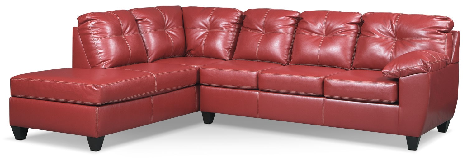 Ricardo 2-Piece Innerspring Sleeper Sectional with Left-Facing Chaise - Cardinal  sc 1 st  Value City Furniture : sofa sleeper sectional - Sectionals, Sofas & Couches