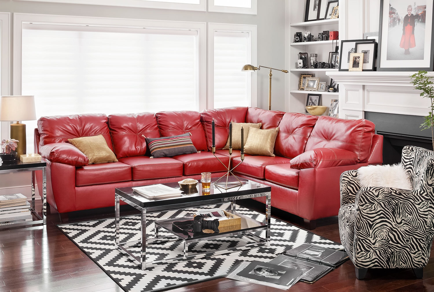 The Ricardo Sectional Collection   Cardinal