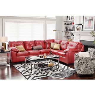 The Ricardo Sectional Collection - Cardinal