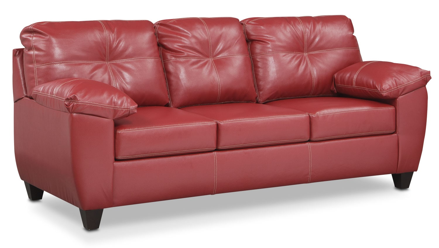 Ricardo Queen Innerspring Sleeper Sofa   Cardinal