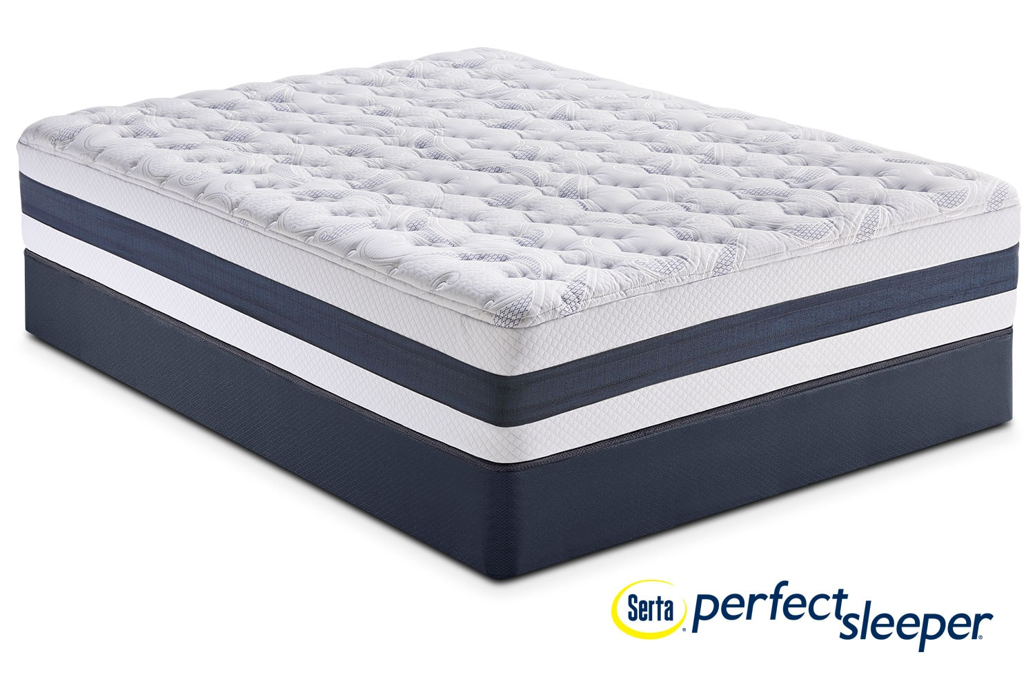 Carson Ridge King Mattress and Split Low-Profile Foundation Set