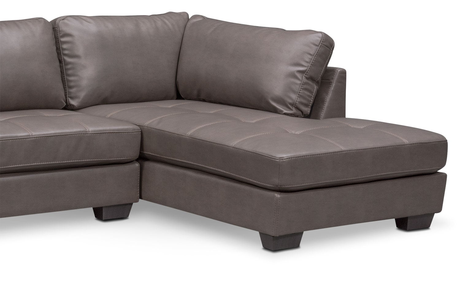 Santana 2piece Sectional With Rightfacing Chaise  Gray