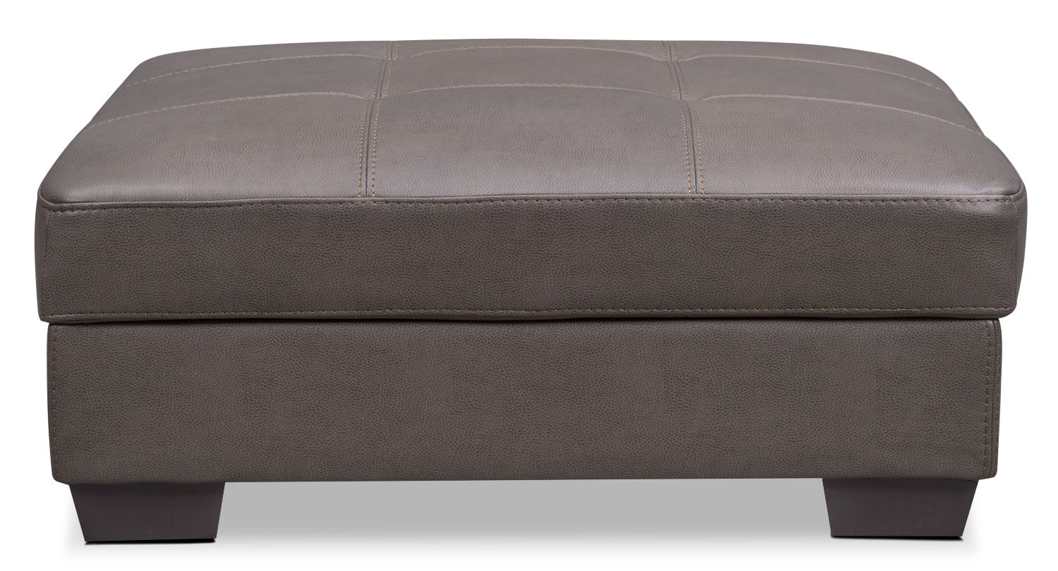 santana storage ottoman  gray  value city furniture - click to change image