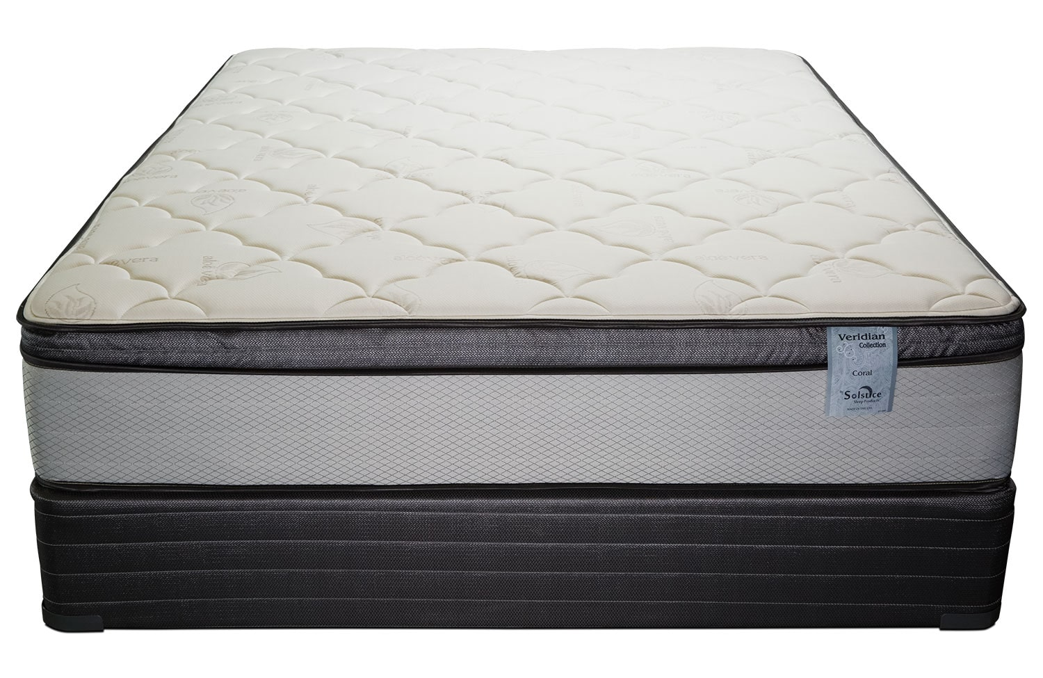 Mattresses and Bedding - Oasis Plush Pillowtop King Mattress and Split Foundation Set