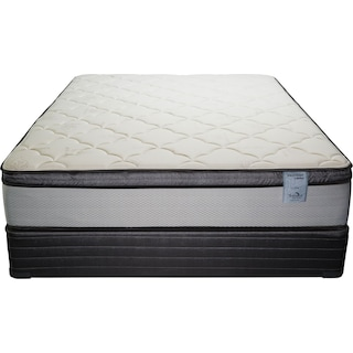 Oasis Plush Twin Mattress and Foundation Set