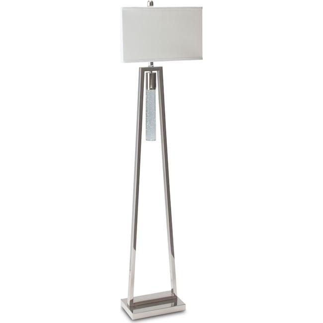 ice floor lamp - nickel | value city furniture