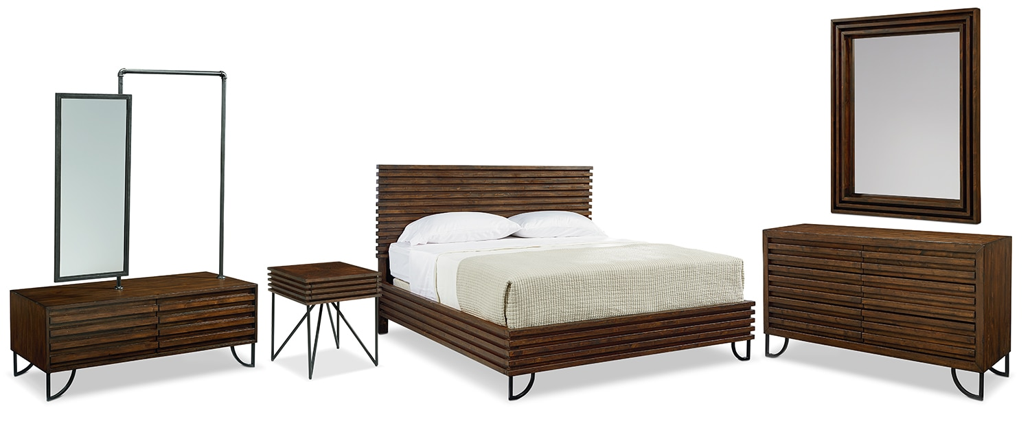 The Boho Stacked Slat Bedroom Collection