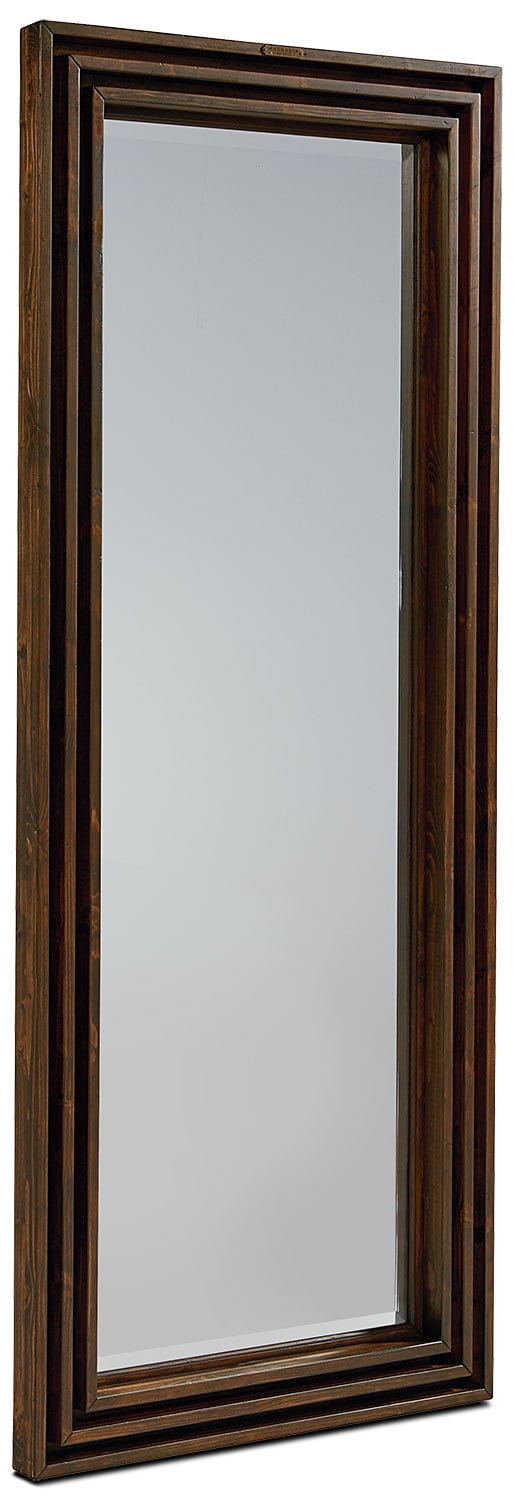 Bedroom Furniture - Stacked Slat Floor Mirror