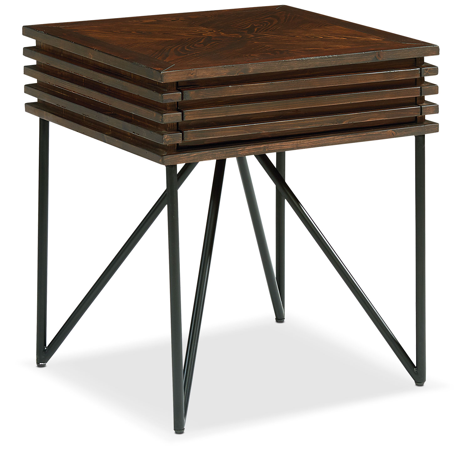 Stacked Slat Side Table